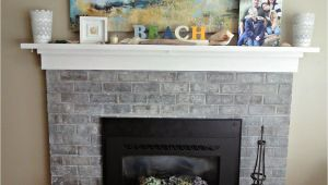 Refurbished Brick Fireplaces Puddles Tea White Wash Brick Fireplace Makeover Beach Cottage