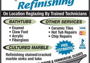 Reglaze Bathtub Edmonton Allwest Refinishing