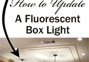 Replace Fluorescent Light with Led Removing A Fluorescent Kitchen Light Box Remodel Pinterest