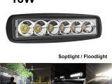 Ridged Lights 1550lm 6 Inch 18w Led Work Light Bar Offroad Flood Light Spot Light