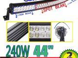 Ridged Lights 42 Inch 140w 6000k Curved Car Led Work Light Bar Offroad Fog Roof