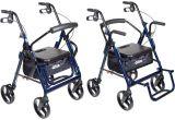 Rollator Walker Transport Chair Combo 2 In 1 Transport Wheelchair Walker Rollator Disabled Chair 13 5