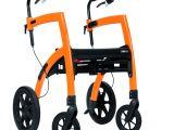 Rollator Walker Transport Chair Combo Deambulateur Et Chaise Roulante Rollz Motion Senup Com