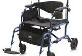 Rollator Walker Transport Chair Combo Medline Translator Combination Transport Chair and Rollator Blue