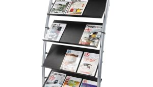 Rotating Magazine Rack for Office Alba Large Mobile Literature Display 5 Levels Work tools Pinterest