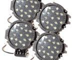 Round Led Offroad Lights 4 Piece 7 Inch 51w Car Round Led Work Light 12v 24v Flood Spot Light