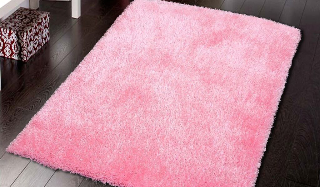 Round Pink Rugs For Nursery Solid Pink Shag Rug Pink Shag Rug Shag