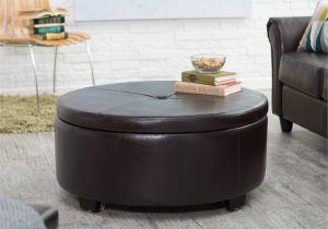 Round Storage Ottoman 15 Storage Leather Ottoman Coffee Table