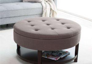 Round Storage Ottoman Elegant Round Ottoman Coffee Table
