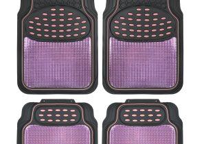 Rubber Children S Floor Mats Car Rubber Floor Mats Pink Metallic Design On Black Heavy Duty