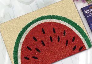 Rubber Children S Floor Mats Entrance Carpets Funny Rubber 3d Watermelon Fruit Carpet for Living