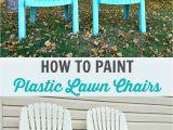 Rustoleum Paint for Plastic Chairs How to Spray Paint Plastic Lawn Chairs Dans Le Lakehouse