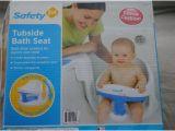 Safety 1st Baby Bathtub Safety 1st Tubside Baby Bath Tub Seat Ring Infant White