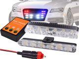Safety Light Bars Super Brightness 2x 6 Led Car Emergency Beacon Light Bar Flashing