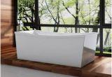 Serenity 5.9 Ft. Center Drain Bathtub In White Freestanding Bathtubs at Lowes