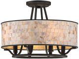 Shell Light Fixture Aristocrat 15 3 4 Wide Palladian Bronze Ceiling Light Style
