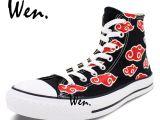 Shoes for Concrete Floors Wen Hand Painted Shoes Design Custom Anime Sneakers Naruto Akatsuki