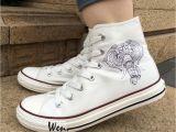 Shoes for Concrete Floors Wen Men Women S Canvas Shoes Design Elephant Ethnic Style High top