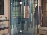 Shower Door Frame Only Dreamline Quatra Lux 46 5 16 In X 32 1 4 In X 72 In Frameless