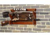 Single Gun Rack for Wall the American Furniture Classics Lone Star 2 Gun Wall Rack is Richly