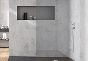 Slate Bathroom Design Ideas Acquabella Base Slate Cemento 2000x800mm Shower Tray Slate Effect