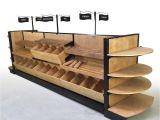 Slatwall Cigarette Racks Pastry Display Case Wood Bread Bakery Slatted Shelf Fixture