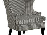 Small Black Accent Chair Thurston Wing Chair with Pewter Nailheads Small Check