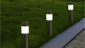 Solar Lights for Walkway 6pcs solar Light Stainless Steel Pathway Lawn Lamp Warm White solar