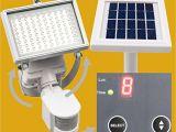 Solar Panel Flood Lights Microsolar Warm White 80 Led Waterproof Lithium Battery