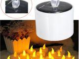Solar Powered Tea Lights 6pcs High Quality Led Tea Light Candles Flashing Battery Operated