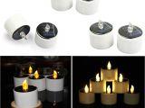 Solar Powered Tea Lights Aliexpress Com Buy 6pcs Led Candle Light solar Powered Led Candles