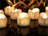 Solar Powered Tea Lights wholesale Warm White Flickering Flameless Candles with Timer