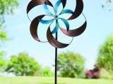 Spinning Garden Art Amazon Com Two tone Pinwheel Metal Garden Wind Spinner Patio Lawn
