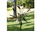 Spinning Sun Kinetic Garden Art 6 Ft Tall Bronze Finish Metal Wind Spinner Spinnin Fastfurnishings Com