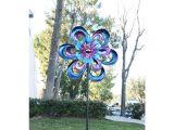 Spinning Sun Kinetic Garden Art Alpine 94 In Metal Round Flower Spinning Garden Stake Kpp428 the