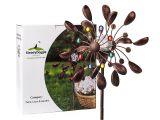 Spinning Sun Kinetic Garden Art Amazon Com Steadydoggie Sports Outdoors solar Wind Spinner New