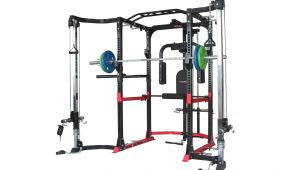 Squat Rack with Cables Trojan Power Rack Cable Cross Over attachment Trojan Fitness
