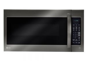 Stainless Steel Interior Microwave Oven Countertop Lg Electronics 2 0 Cu Ft Over the Range Microwave In Black