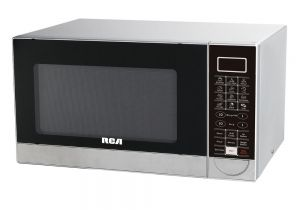 Stainless Steel Interior Microwave Oven Countertop Rca 1 1 Cu Ft Countertop Microwave In Stainless Steel Stainless