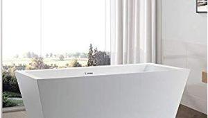 Standalone Acrylic Bathtub Vanity Art 59 Inch Freestanding Acrylic Bathtub