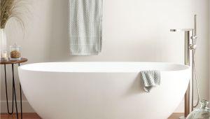 Standalone Bathtub Allene Resin Freestanding Tub Matte Finish Bathroom