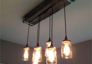 Star Shaped Light Fixture Mason Jar and Reclaimed Wood Light Fixture 7m Woodworking