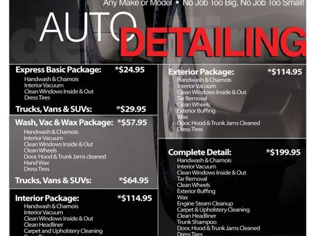 Steam Clean Car Interior Houston Car Detail Flyer Template Free