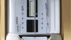 Steam Shower Generator Reviews Eagle Bath M A6012 Steam Shower Enclosure W Whirlpool Bathtub Combo