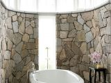 Stone Bathtub Designs Cozy Bathroom Designs with Stone Walls
