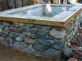 Stone Outdoor Bathtub Concrete and Stone Hot Tub In 2019