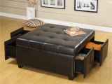 Storage Ottoman with Tray 10 Brown Leather Ottoman Coffee Table Ideas