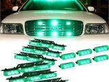 "Strobe Light Bar for Trucks Amazon Com Dt Motoa""¢ Green 54x Led Emergency Vehicle Dash Grill Deck"