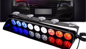 Strobe Light Bar for Trucks Police Dash Light 12v Vehicle Emergency Flashers Windshield Strobe