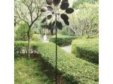 Stylecraft Lamps Kinetic Wind Sculpture Big Modern Art Kinetic Wind Sculpture Dual Spinner Metal Garden